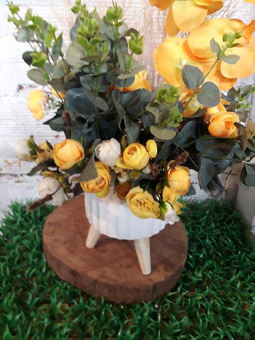 Arranjo flores amarelas