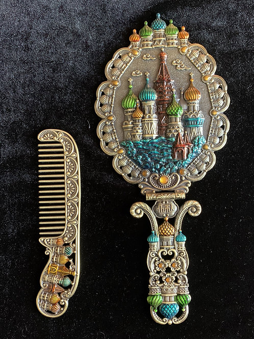 Hand Mirror/Comb Set Large