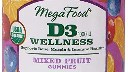Gummy D3 (1000 IU) Wellness - Mixed Fruit