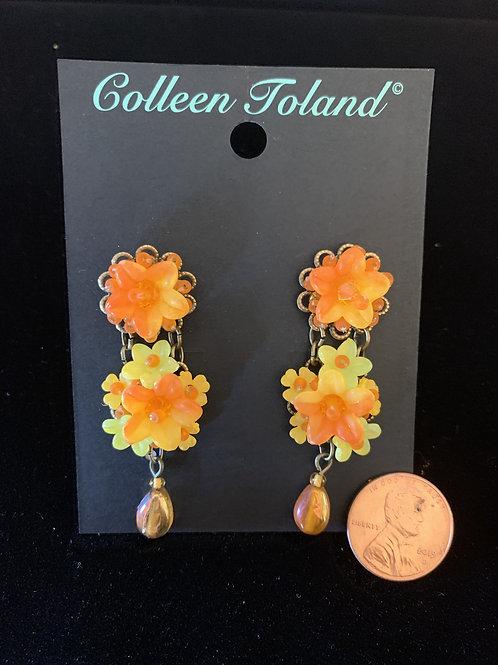 Papaya Post Earrings