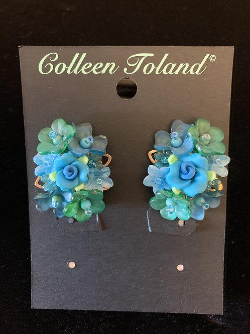 Peacock Clip Earring