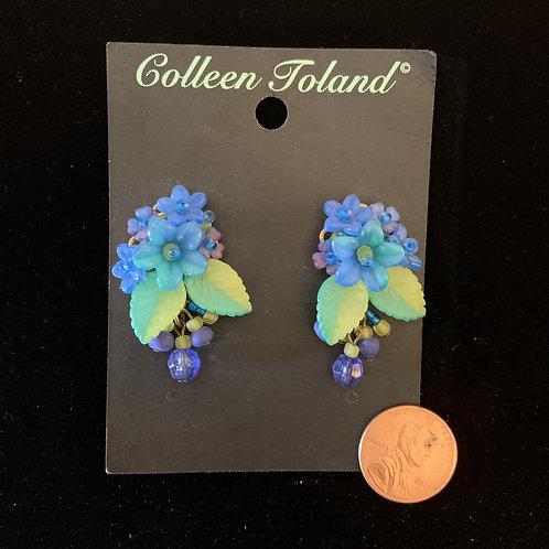 Peacock Post Earrings