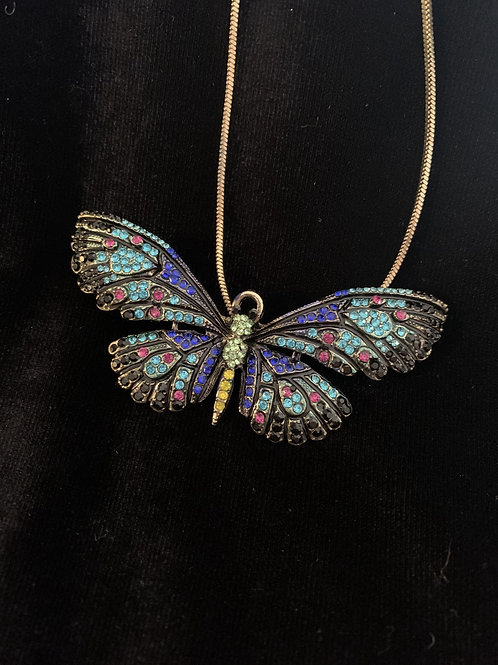 Butterfly Necklace/Brooch