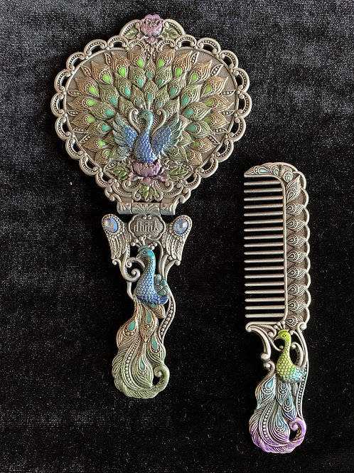 Peacock Mirror Set