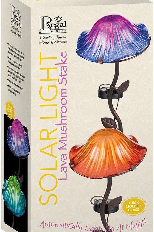 Lava Mushroom Solar Stake