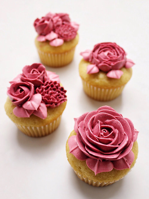 floral medley cupcakes