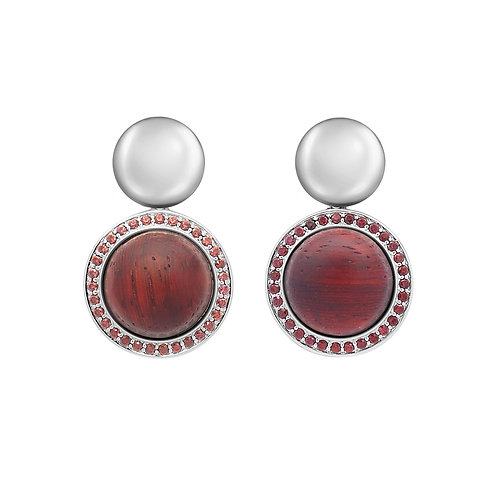 Whirl Earrings Red