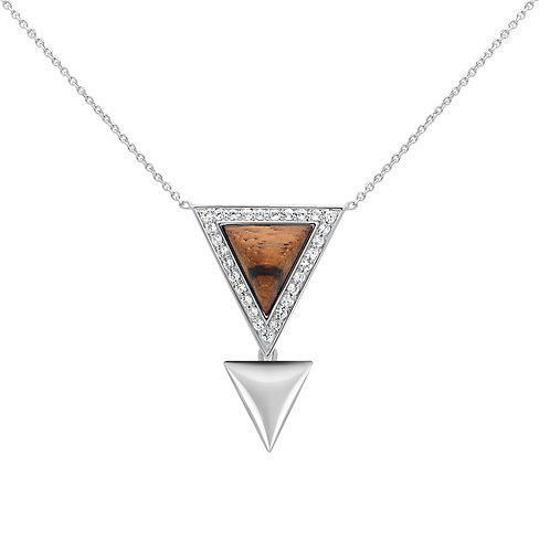 Triangulum Necklace Zebrano