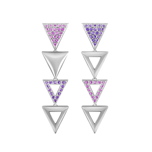 Triangulum Long Earrings