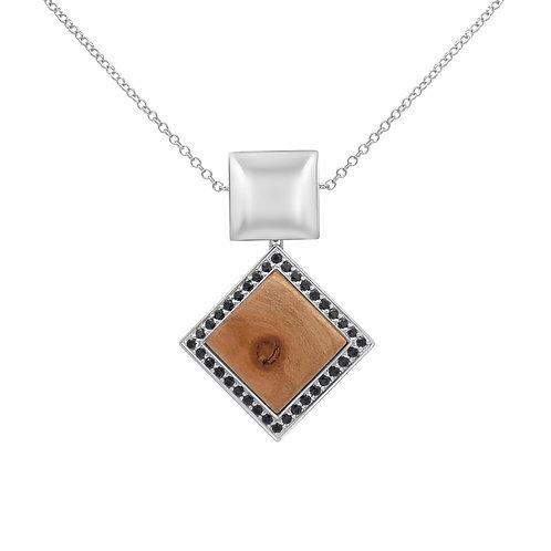 Quadratum Necklace Black