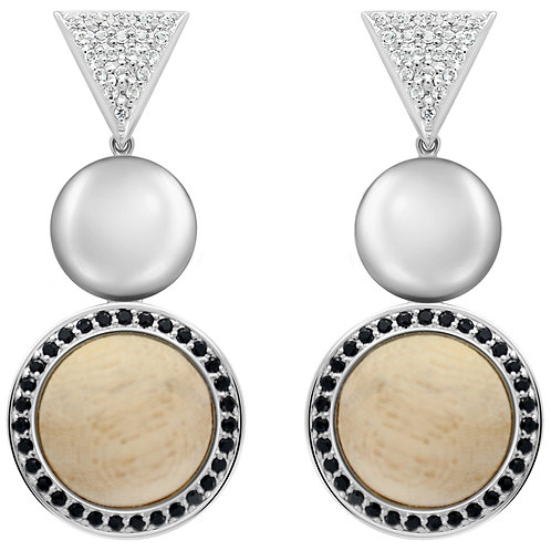 Cause a Stir Statement Earrings White