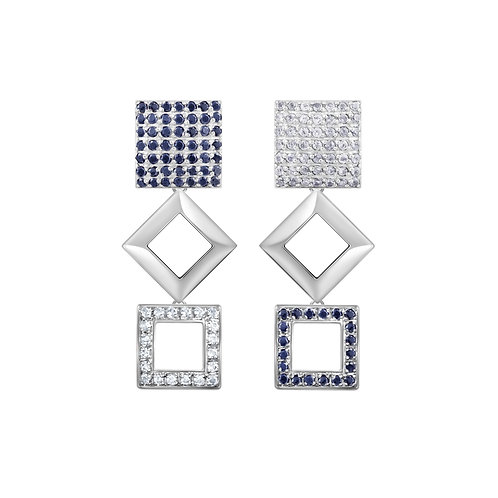 Quadratum Triple Earrings