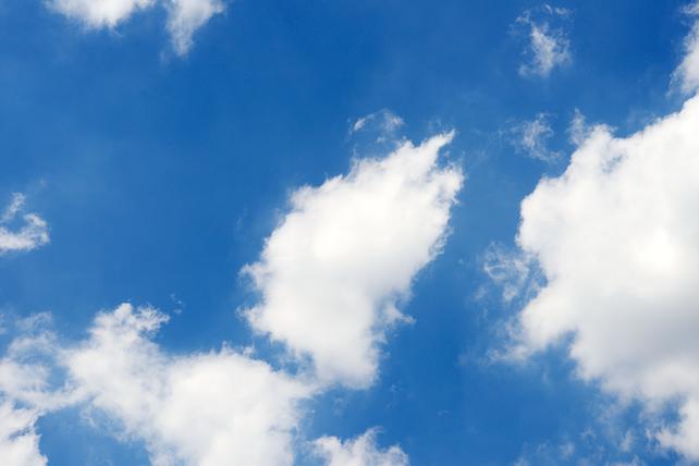 A blue sky in Tokyo