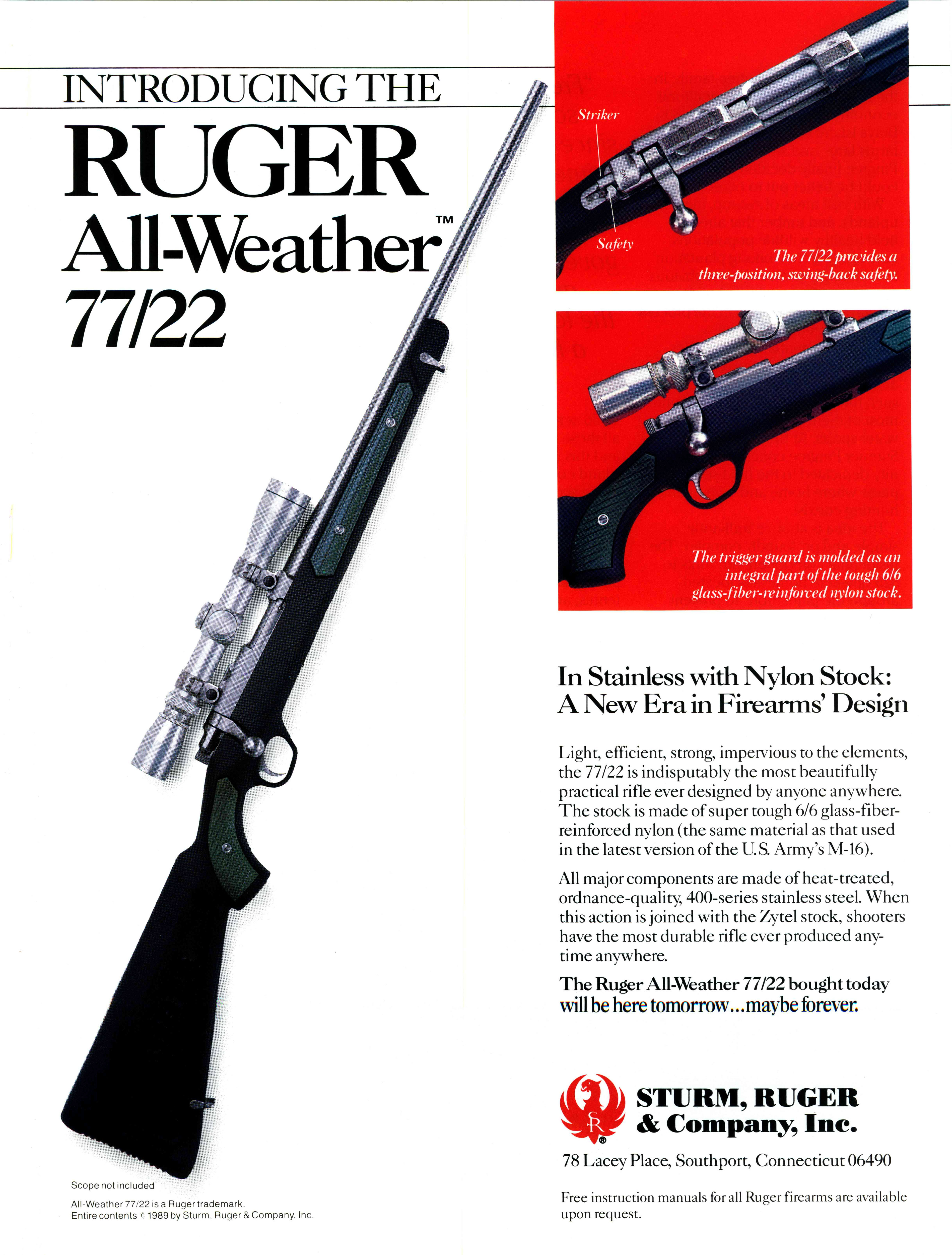 Sturm, Ruger & Company, Inc  - All-Weather 77/22