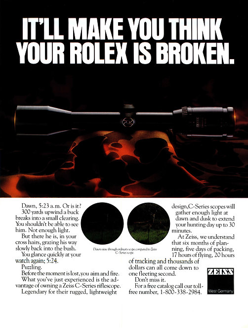 Zeiss - It'll Make You Think Your Rolex is Broken