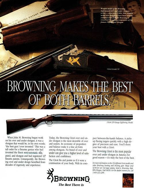 Browning - Makes the Best of Both Barrels