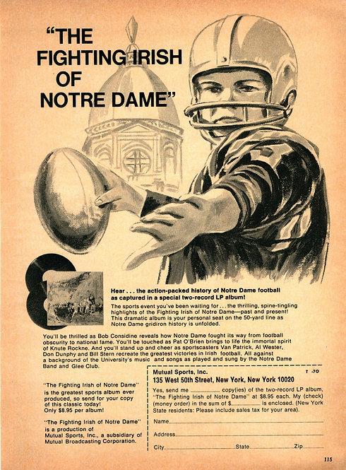 The Fighting Irish of Notre Dame