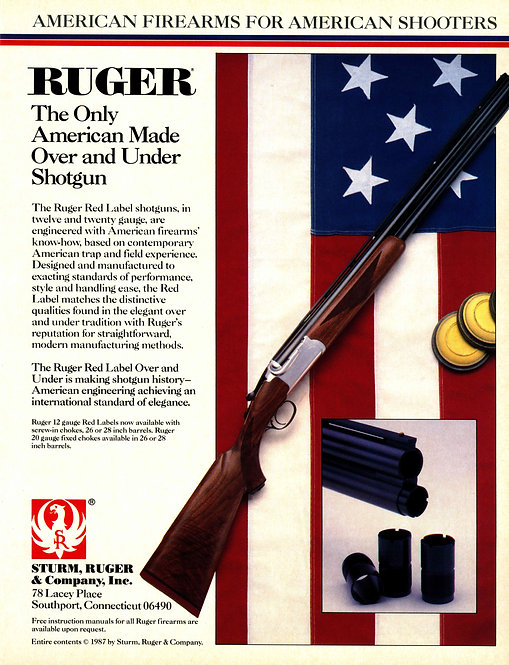 Ruger - The only American Made Over and Under Shotgun