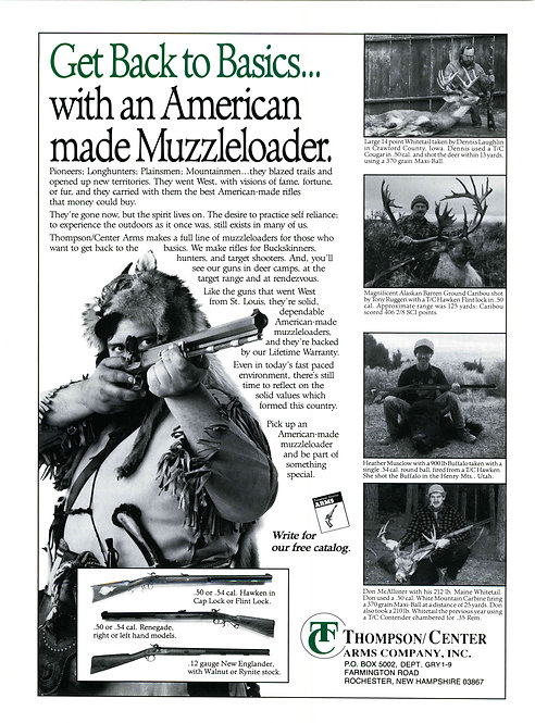 Thompson - Get Back to Basics with a American Made Muzzleloader
