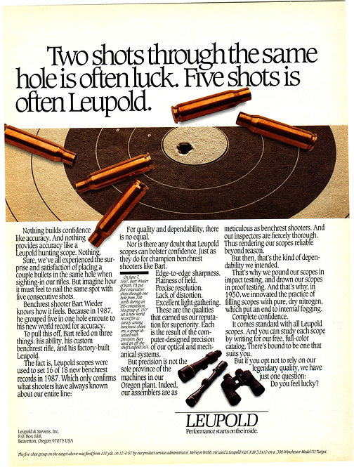 Leupold & Stevens, Inc. - Five Shots is Often Leupold