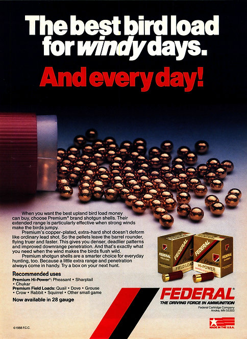 Federal Ammunition - The Best Bird Load for Windy Days