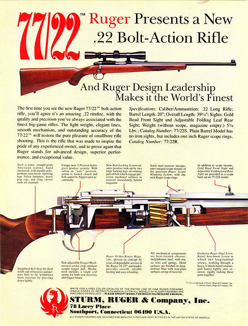 Sturm, Ruger & Company, Inc. - 77/22 Ruger Presents a New .22 Bolt-Action Rifle