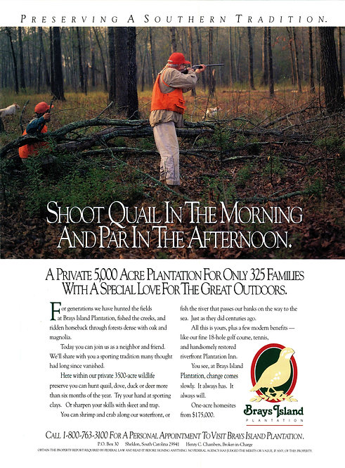 Brays Island - Shoot Quail in the Morning and Par in the Afternoon