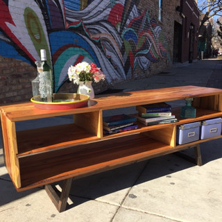 Mid-Century Inspired Living Room Console