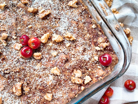 Cherry Mango Bread Pudding