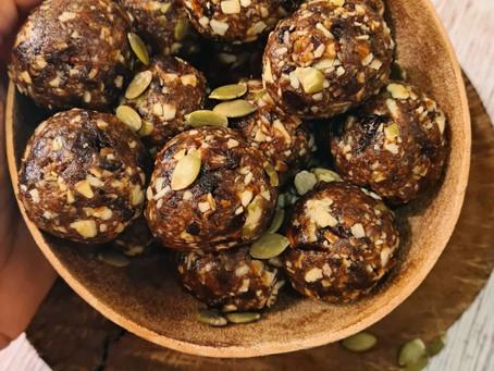Energy Bites- Prunes, Coconut, Pumpkin Seeds & Almonds