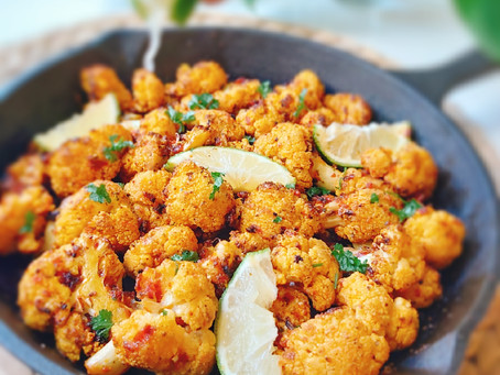 Oven- Roasted Cauliflower- Moroccan Style