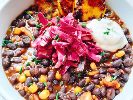 Comforting Vegan Chili- Easy and Healthy
