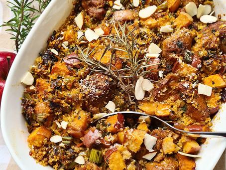 Quinoa Sausage Stuffing-Vegan Christmas Recipes