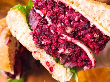 Beet Black Bean Burgers- Vegan & Gluten Free