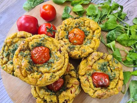 Eggy Veggie Tofu Muffins- Savoury Vegan Muffins