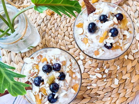 Cardomom Raisin Rice Pudding- No Added Sugar, Dairy Free