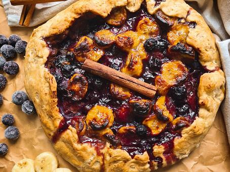 Easier Than Pie, Banana Blueberry Galette- Vegan