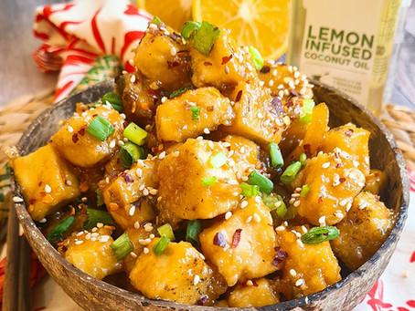 Sticky Lemon Orange Tofu