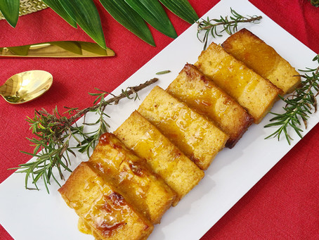Orange Glazed Smoked Tofu - Vegan Christmas Recipes