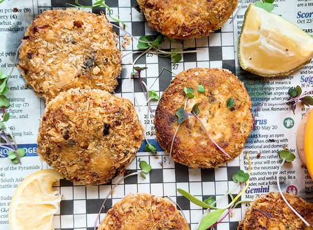 "The Ultimate Vegan ""Crab"" Cakes & Tartar Sauce- Using Hearts of Palm & Silken Tofu"