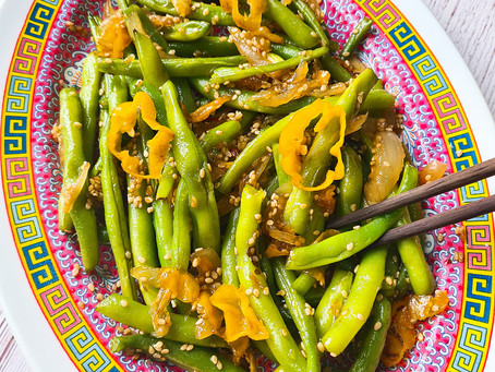 Sweet & Spicy String Beans