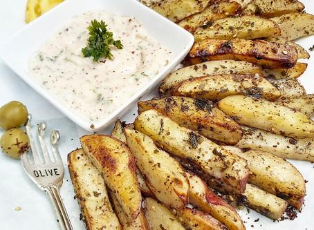 Za'atar Spiced Potato Wedges