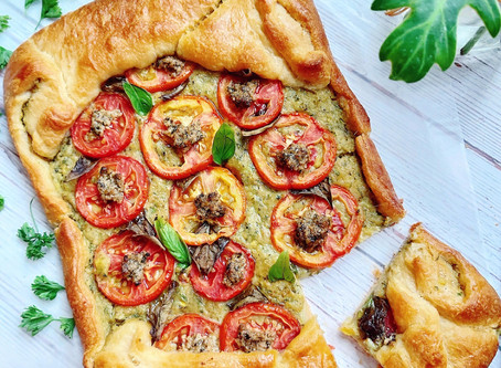 Avocado Cream Cheese Pesto Galette- Vegan Pillsbury Galette