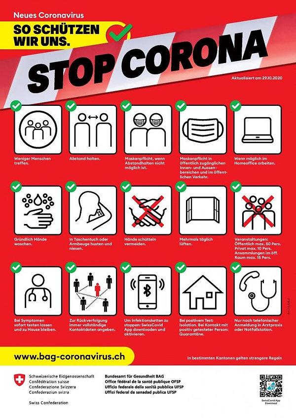 Corona Verhaltensregeln BAG_Plakat_Socia