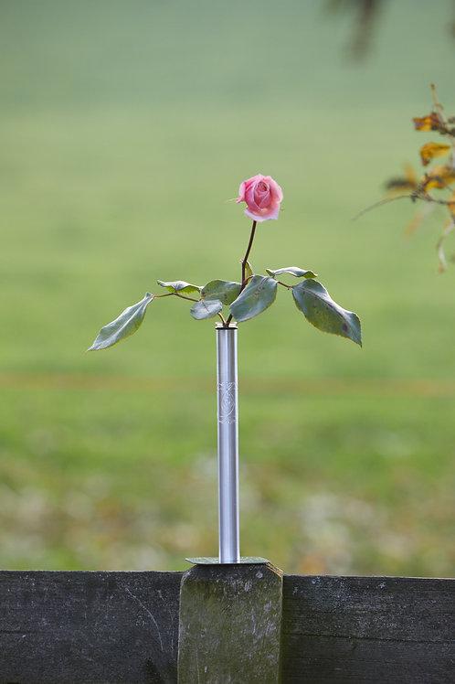 Vase oder Kerzenständer mit unsichtbarer Magnetplatte, Glaseinsatz