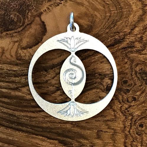 Kettenanhänger Silber matt 2,7cm x 1mm 925er Silber