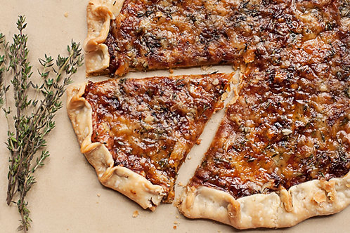 Savory Rustic Tart w/Caramelized Onions & Rosemary