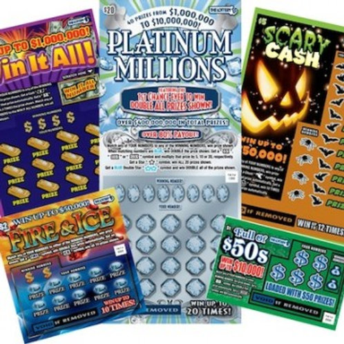 $100 worth of Lottery Scratch Tickets