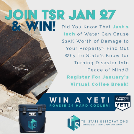 Learn About Water Damage Mitigation with TSR & You Could Win a YETI Cooler!