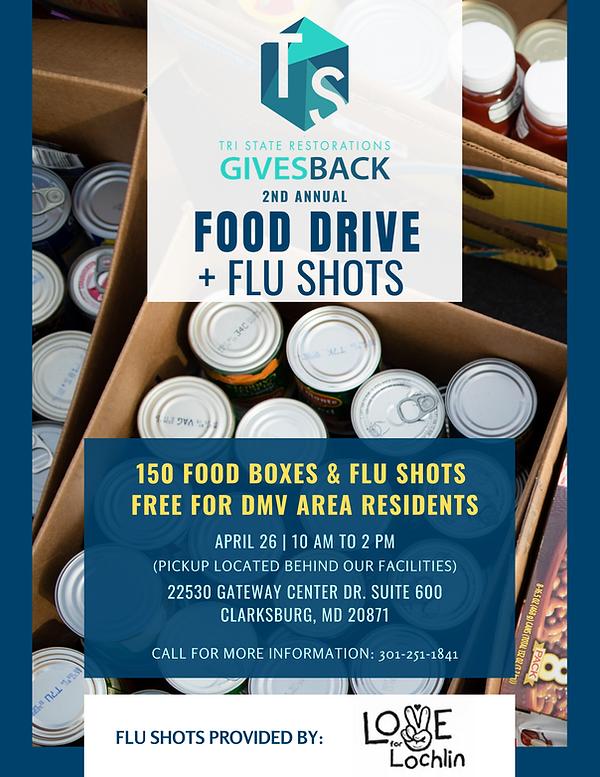 TSR Gives Back Food Drive & Flu Shots Fl
